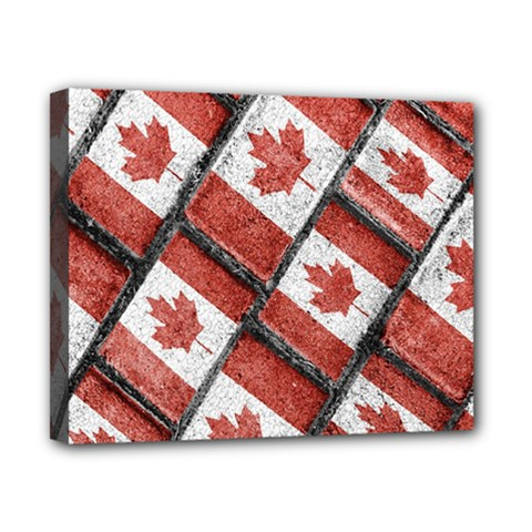 Canadian Flag Motif Pattern Canvas 10  X 8