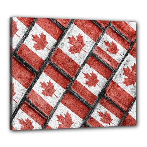 Canadian Flag Motif Pattern Canvas 24  X 20