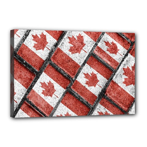 Canadian Flag Motif Pattern Canvas 18  X 12