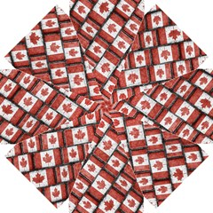 Canadian Flag Motif Pattern Straight Umbrellas