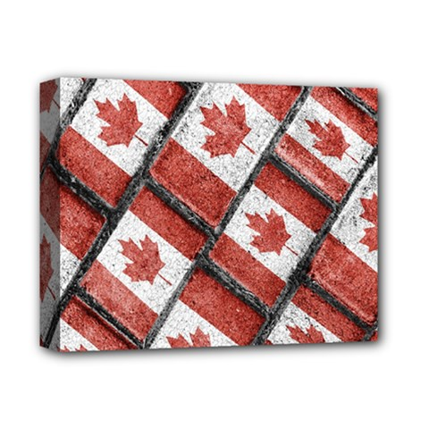 Canadian Flag Motif Pattern Deluxe Canvas 14  X 11