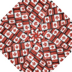 Canadian Flag Motif Pattern Hook Handle Umbrellas (small)