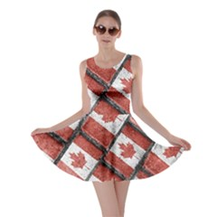 Canadian Flag Motif Pattern Skater Dress