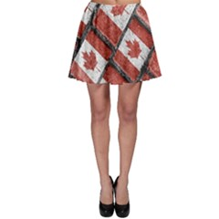 Canadian Flag Motif Pattern Skater Skirt