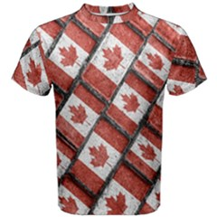 Canadian Flag Motif Pattern Men s Cotton Tee