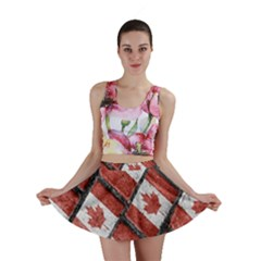 Canadian Flag Motif Pattern Mini Skirt