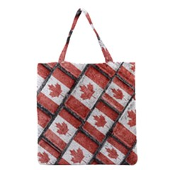 Canadian Flag Motif Pattern Grocery Tote Bag