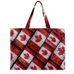 Canadian Flag Motif Pattern Mini Tote Bag