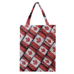 Canadian Flag Motif Pattern Classic Tote Bag