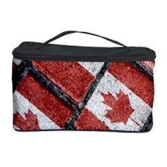 Canadian Flag Motif Pattern Cosmetic Storage Case