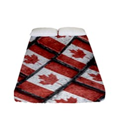 Canadian Flag Motif Pattern Fitted Sheet (full/ Double Size)