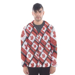 Canadian Flag Motif Pattern Hooded Wind Breaker (men)