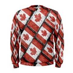 Canadian Flag Motif Pattern Men s Sweatshirt