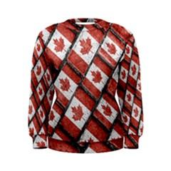 Canadian Flag Motif Pattern Women s Sweatshirt