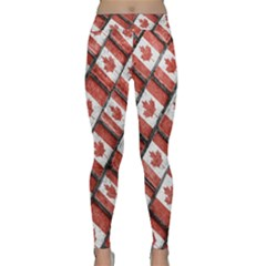Canadian Flag Motif Pattern Classic Yoga Leggings