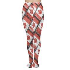 Canadian Flag Motif Pattern Women s Tights