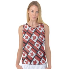 Canadian Flag Motif Pattern Women s Basketball Tank Top