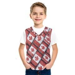 Canadian Flag Motif Pattern Kids  Sportswear