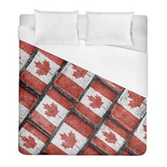 Canadian Flag Motif Pattern Duvet Cover (full/ Double Size)