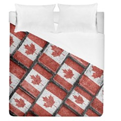 Canadian Flag Motif Pattern Duvet Cover (queen Size)