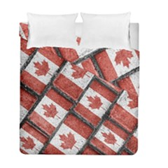 Canadian Flag Motif Pattern Duvet Cover Double Side (full/ Double Size)