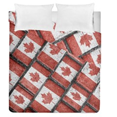 Canadian Flag Motif Pattern Duvet Cover Double Side (queen Size)