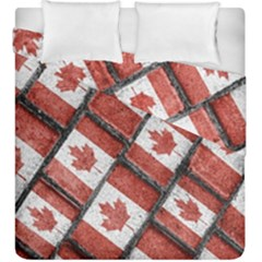 Canadian Flag Motif Pattern Duvet Cover Double Side (king Size)