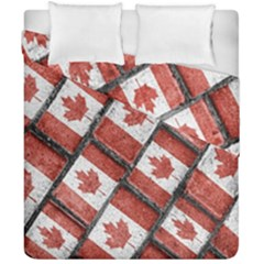 Canadian Flag Motif Pattern Duvet Cover Double Side (california King Size)