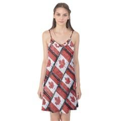 Canadian Flag Motif Pattern Camis Nightgown