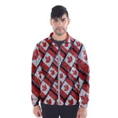 Canadian Flag Motif Pattern Wind Breaker (men)