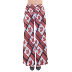 Canadian Flag Motif Pattern Pants