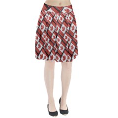 Canadian Flag Motif Pattern Pleated Skirt