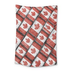 Canadian Flag Motif Pattern Small Tapestry
