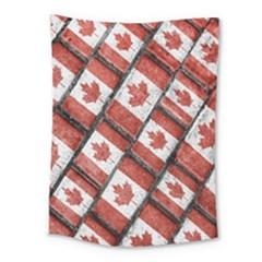 Canadian Flag Motif Pattern Medium Tapestry