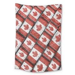 Canadian Flag Motif Pattern Large Tapestry