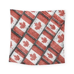 Canadian Flag Motif Pattern Square Tapestry (small)