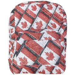 Canadian Flag Motif Pattern Full Print Backpack