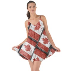 Canadian Flag Motif Pattern Love The Sun Cover Up