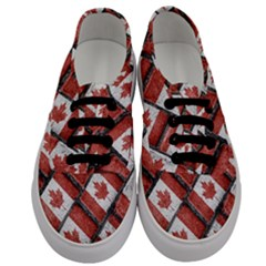 Canadian Flag Motif Pattern Men s Classic Low Top Sneakers