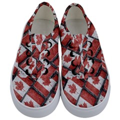 Canadian Flag Motif Pattern Kids  Classic Low Top Sneakers