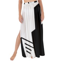 Tower City Town Building Black White Maxi Chiffon Tie Up Sarong