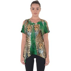 Animals Cheetah Cut Out Side Drop Tee