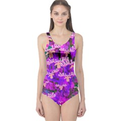 Watercolour Paint Dripping Ink One Piece Swimsuit