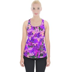 Watercolour Paint Dripping Ink Piece Up Tank Top