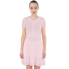Red Line Plaid Vertical Horizon Adorable In Chiffon Dress