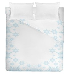 The Background Snow Snowflakes Duvet Cover Double Side (queen Size)