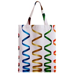 Tape Birthday Ribbon Party Yellow Red Blue Green Gold Rainbow Zipper Classic Tote Bag