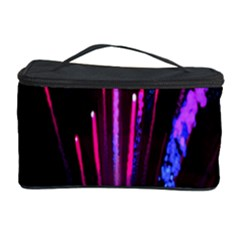 Happy New Year City Semmes Fireworks Rainbow Red Blue Purple Sky Cosmetic Storage Case