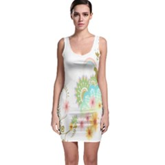 Wreaths Sexy Flower Star Leaf Rose Sunflower Bird Summer Bodycon Dress