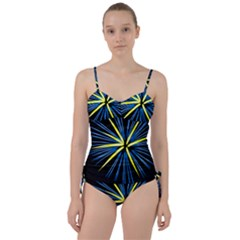 Fireworks Blue Green Black Happy New Year Sweetheart Tankini Set